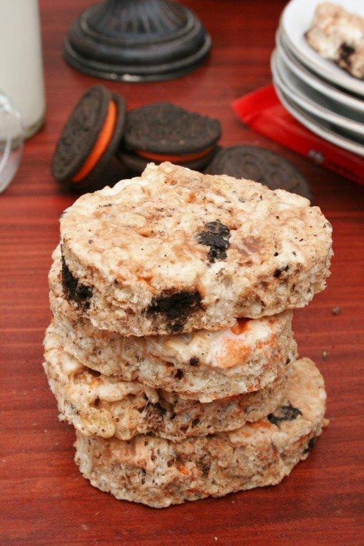 Kit Kat and Oreo Rice Krispie Treats