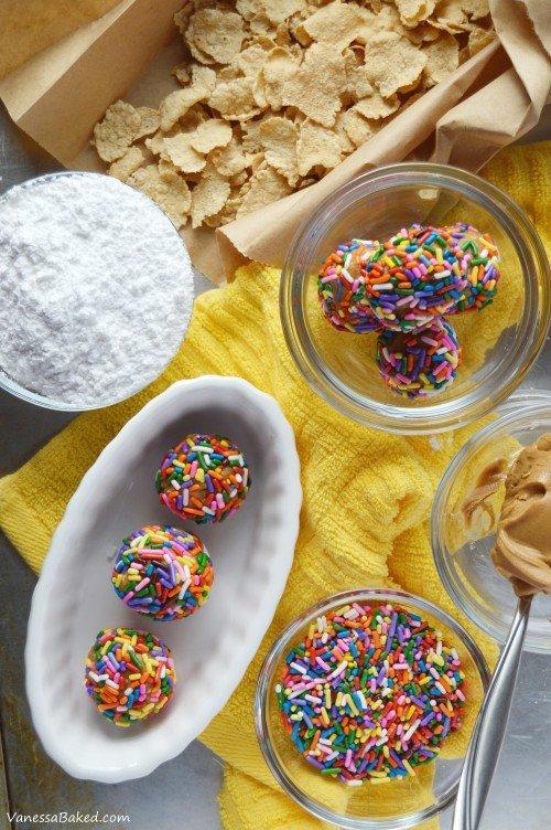 Peanut Butter Cereal Bites