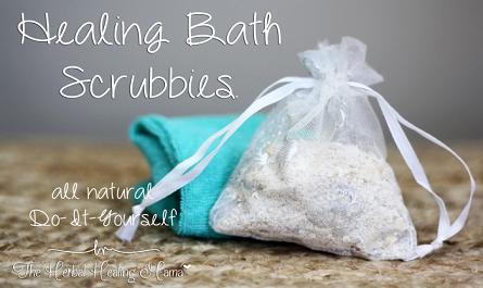 Healing Bath Scrubbies ~ DIY All Natural