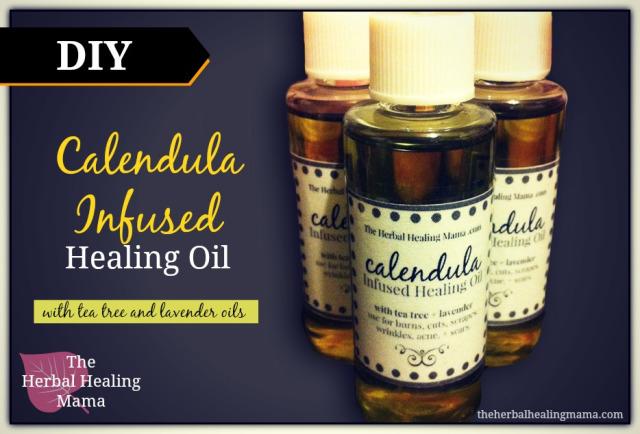 Calendula, Tea Tree & Lavender Healing Oil – DIY