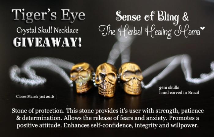 Tiger's Eye Crystal Skull Necklace – Sense of Bling GIVEAWAY
