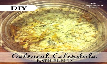Oatmeal Calendula – Herbal Bath Blend – DIY