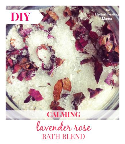 Calming LavenderRose – Herbal Bath Blend