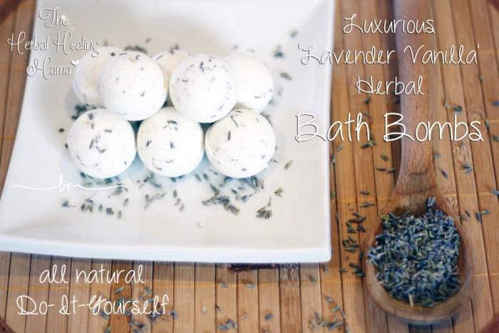 Luxurious 'Lavender Vanilla' Herbal Bath Bombs – DIY All Natural
