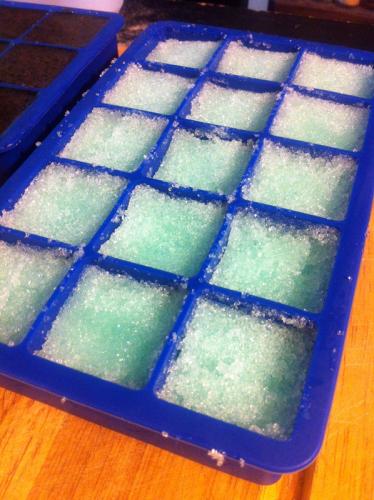 sugar scrub cubes DIY