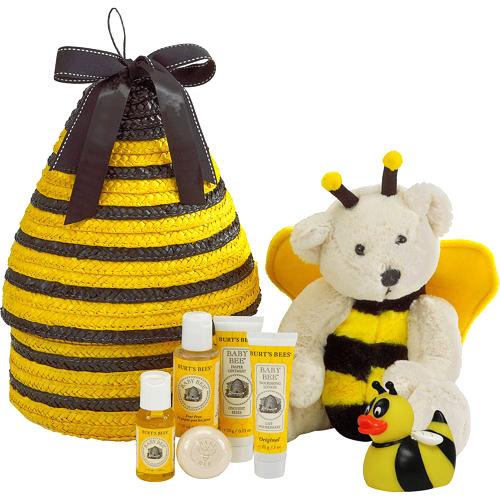 BURT'S BEES BABY BATH TIME BEEHIVE GIFT BASKET