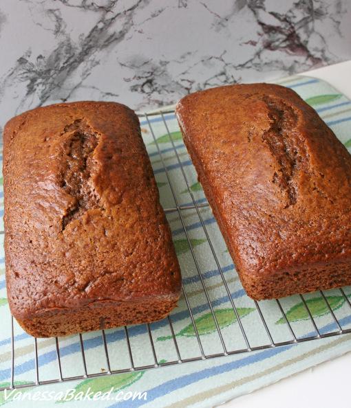 Honey Apple Butter Bread with Cinnamon Glaze